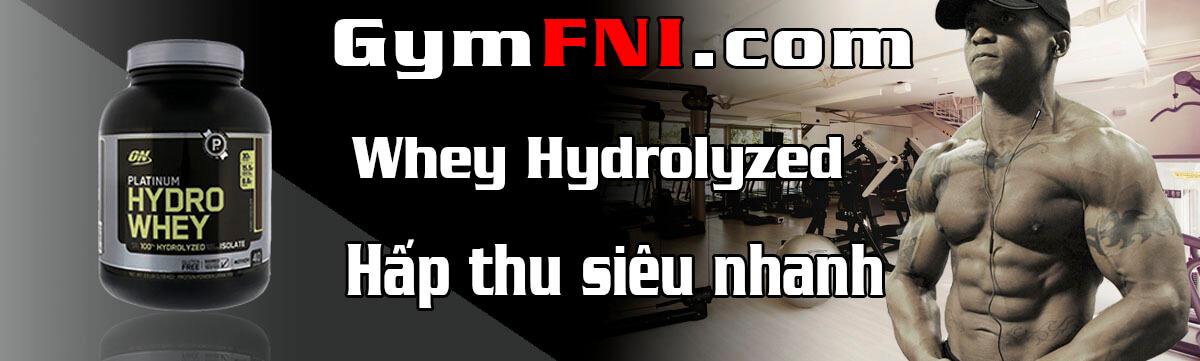 whey hydrolyzed whey dành cho người tập gym